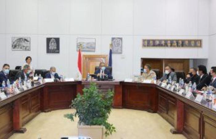 انعقاد هيئة المتحف المصرى الكبير برئاسة وزير السياحة والآثار لمناقشة آخر الأعمال