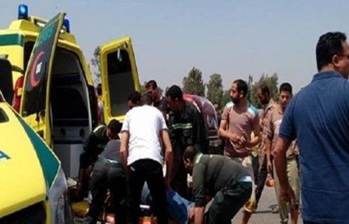 إصابة أمين شرطة صدمته سيارة ملاكى على طريق بلقاس جمصة