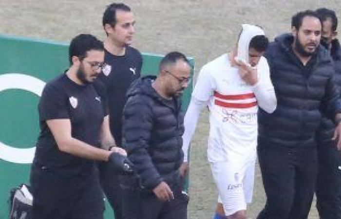 صور.. محمد عبد الغنى ينزف دمًا وتبديل إضطرارى للزمالك أمام غزل المحلة.. فيديو