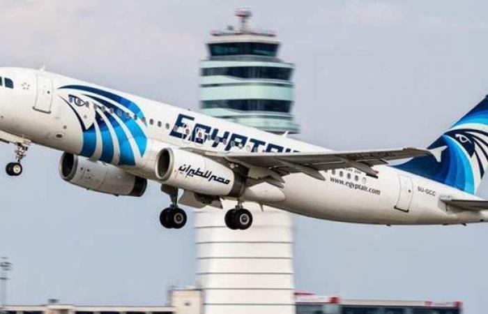 مصر للطيران تنظم غدا 45 رحلة جوية لنقل 4518 راكبا