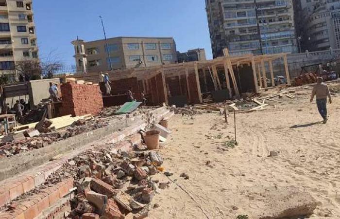 حى شرق الإسكندرية يوقف أعمال إنشاءات مخالفة بنادى المهندسين