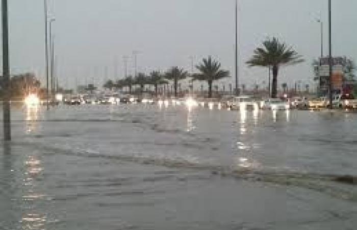 الأرصاد: أمطار رعدية ورياح نشطة على تبوك ليلًا