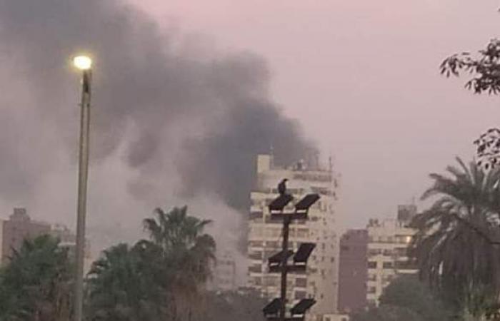 نشوب حريق داخل شقة سكنية بالمنيل