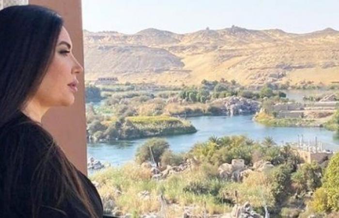 عبير صبري في إطلالة جديدة من كواليس تصوير مسلسل موسى.. شاهد