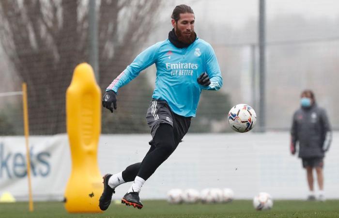 عودة راموس إلى مران ريال مدريد بعد شهر من الغياب