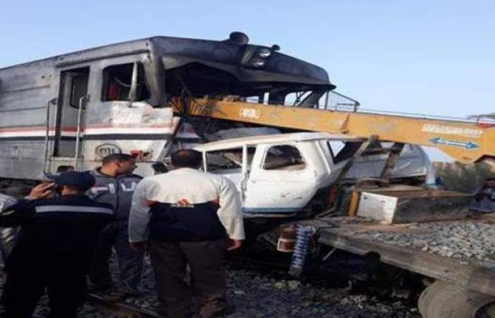أسماء ضحايا ومصابي حادث قطار أسيوط