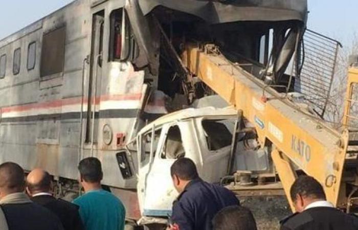 ارتفاع عدد ضحايا حادث قطار أسيوط إلى 3 أشخاص.. و3 مصابين
