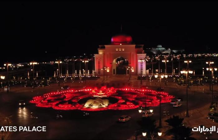 معالم الإمارات تكتسى باللون الأحمر مع اقتراب وصول مسبار الأمل للمريخ.. فيديو