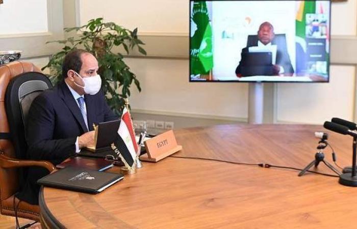 السيسي يطالب قادة أفريقيا بحفظ حقوق مصر المائية في نهر النيل