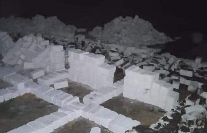 إزالة ٨ مقابر دون ترخيص في شرق الإسكندرية