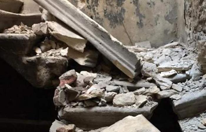 إصابة 3 أشخاص في انهيار سقف شقة ببولاق الدكرور