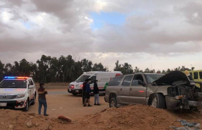 الهلال الأحمر يباشر حادث تصادم نتج عنه 9 إصابات في بنبان