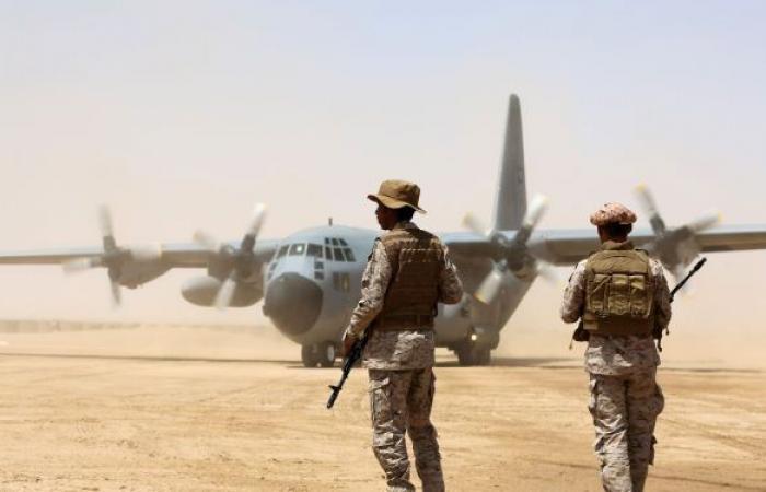 """التحالف العربي يسقط طائرة مسيرة لـ""""أنصار الله"""" في مأرِب شمال شرقي اليمن"""