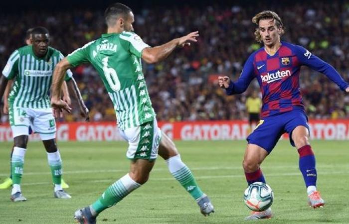 موعد مباراة برشلونة ضد ريال بيتيس والقنوات الناقلة