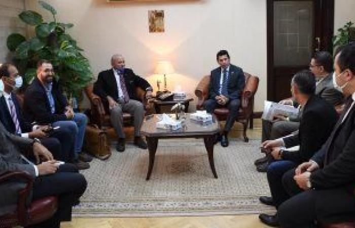 وزير الرياضة يناقش مع رئيس اتحاد الرجبي آخر الاستعدادات للبطولة العربية