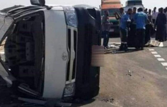 مصرع وإصابة ٥ في حادث تصادم سيارتين بمطروح
