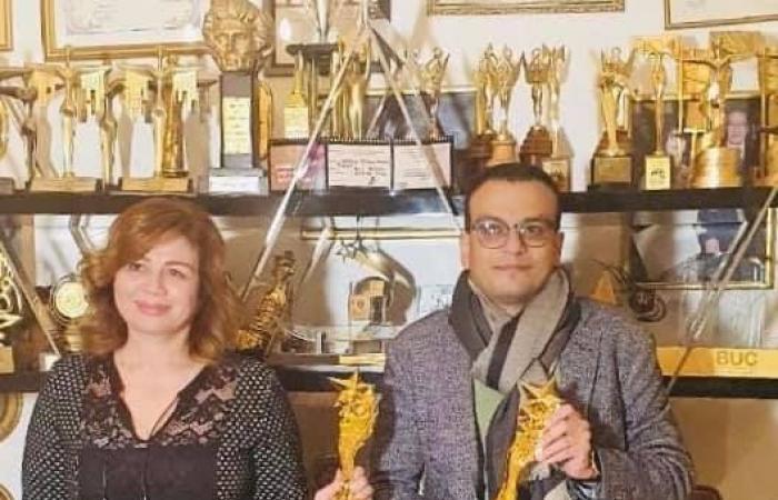"""إلهام شاهين وأمير رمسيس يتسلمان جائزتى أفضل ممثلة ومخرج فى 2020 عن""""حظر تجول"""""""
