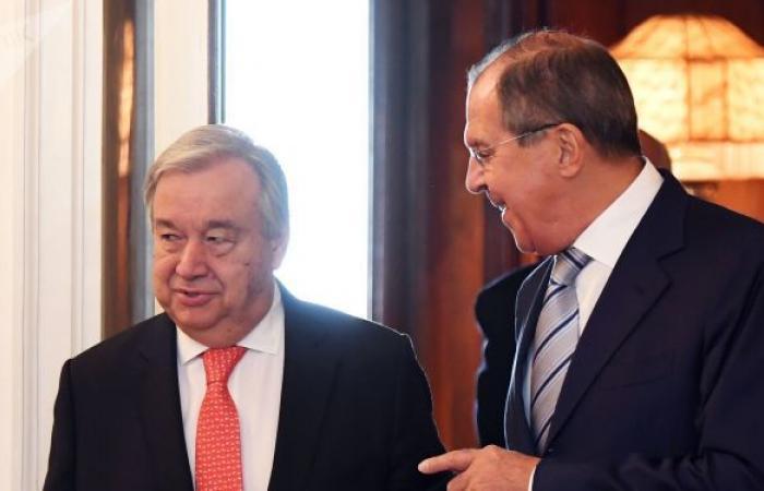 لافروف وغوتيريش يبحثان الوضع في سوريا