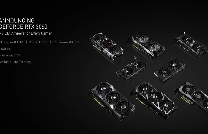 شركة NVIDIA تعتزم إطلاق بطاقة GeForce RTX 3060 Ampere في 25 فبراير !