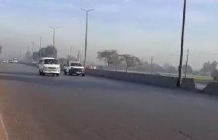 تعرف على الحالة المرورية بطريق الإسكندرية الزراعى.. فيديو