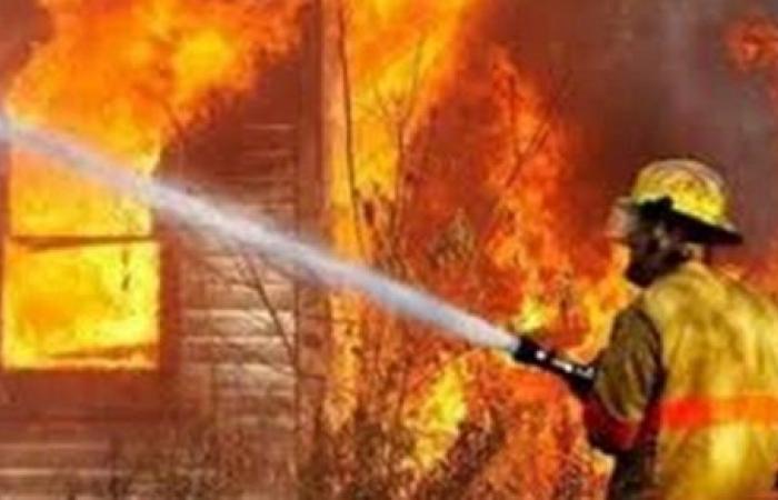 حريق يلتهم فدانيّ قصب فى قنا
