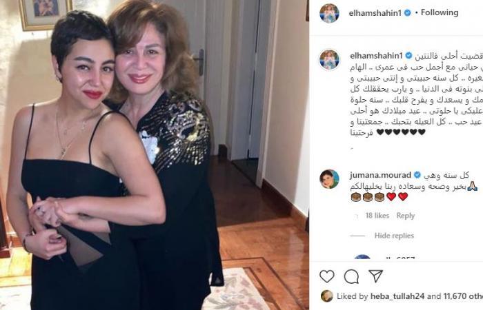 إلهام شاهين تحتفل بعيد ميلاد ابنة شقيقتها: قضيت أحلى فلانتين مع حب عمرى.. صور
