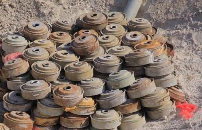 خلال أسبوع.. «مسام» ينتزع أكثر من 1400 لغم في اليمن