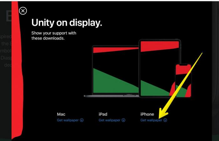 كيفية إضافة خلفية Black Unity المجانية إلى أجهزة آبل الخاصة بك