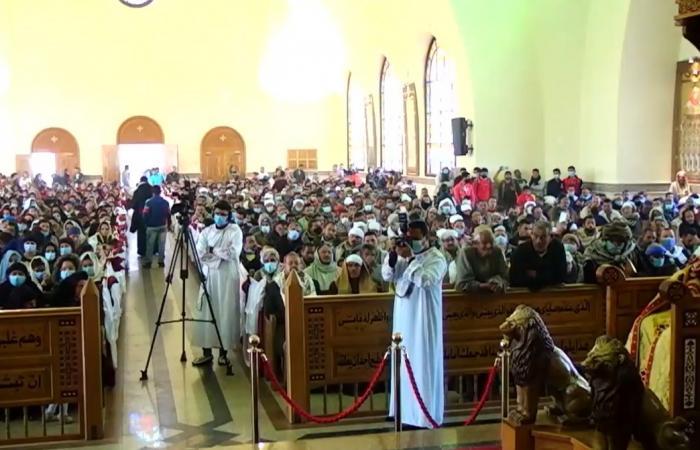 مطران سمالوط يترأس قداس الذكرى السادسة لشهداء الأقباط فى ليبيا.. صور
