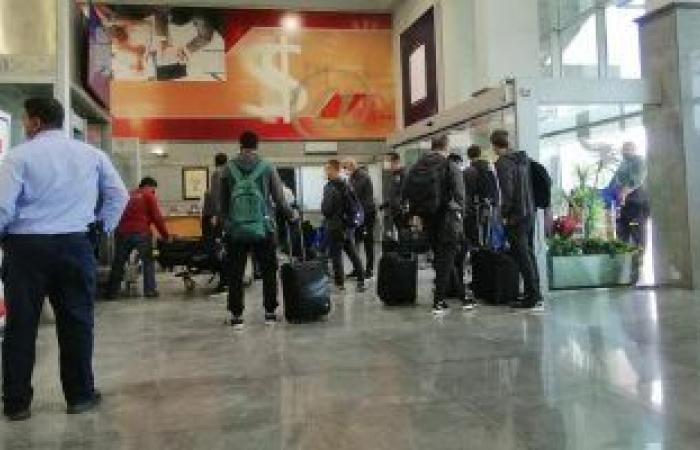 بعثة فريق نادي بيراميدز تصل القاهرة عقب مواجهة راسينج كلوب