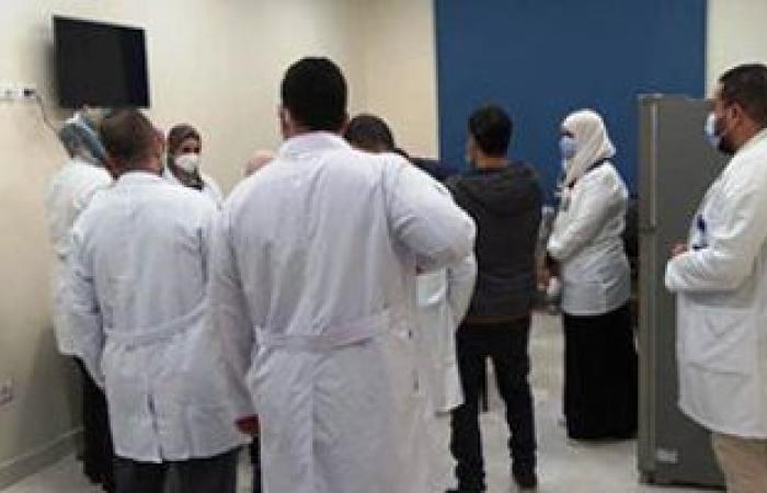 بدء تطعيم الأطقم الطبية بمستشفى أبو خليفة للعزل بالجرعة الثانية للقاح كورونا