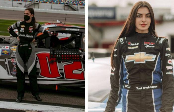 بريدينجر.. أول سائقة من أصول عربية تشارك بسباقات سيارات «ناسكار»