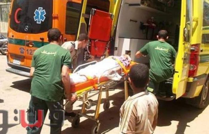 """إصابة ٦ أشخاص في حادث تصادم بطريق """"طنطا - المحلة"""""""