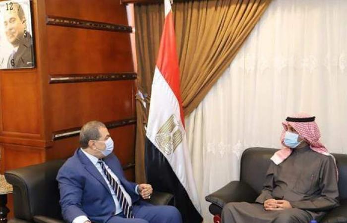 """""""سعفان"""" و""""المطيري"""" يبحثان استعداداتعقد مؤتمر العمل العربي"""