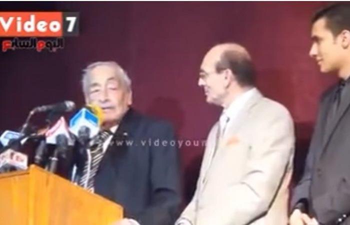 محمد صبحى يستعين بفيديو لليوم السابع ويكشف آخر ما قاله جميل راتب عنه قبل رحيله