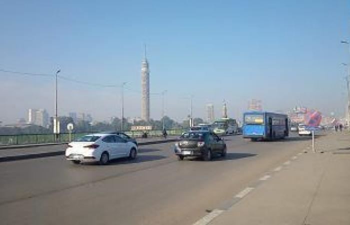 حركة مرور السيارات أعلى كوبرى أكتوبر المتجه من مدينة نصر للمهندسين.. فيديو