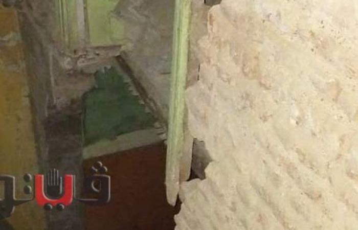 انهيار جزئي بعقار بشارع عثمان محمد في طنطا | صور