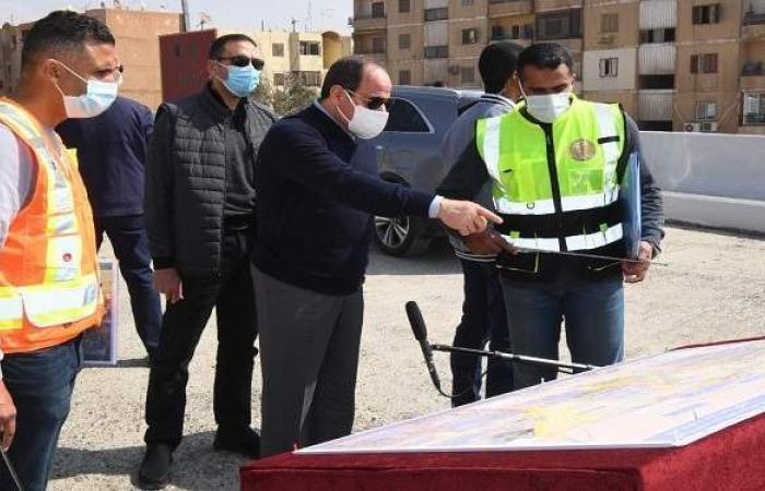 الرئيس السيسي يتفقد تطوير الطرق والمحاور بشرق القاهرة