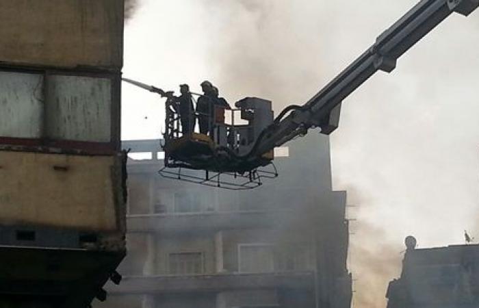 إصابة ربة منزل في حريق ببرج سكني بـ الإسماعيلية