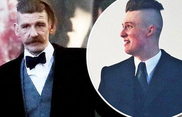 """بول أندرسون وهنري كريتون يظهران في لقطات جديدة من تصوير """"بيكي بلايندرز"""""""