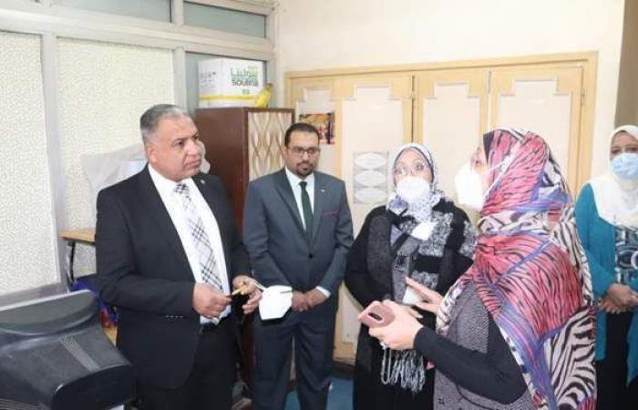 نائب رئيس جامعة الأزهر يتفقد فرع البنات لمتابعة منظومة التحول الرقمي