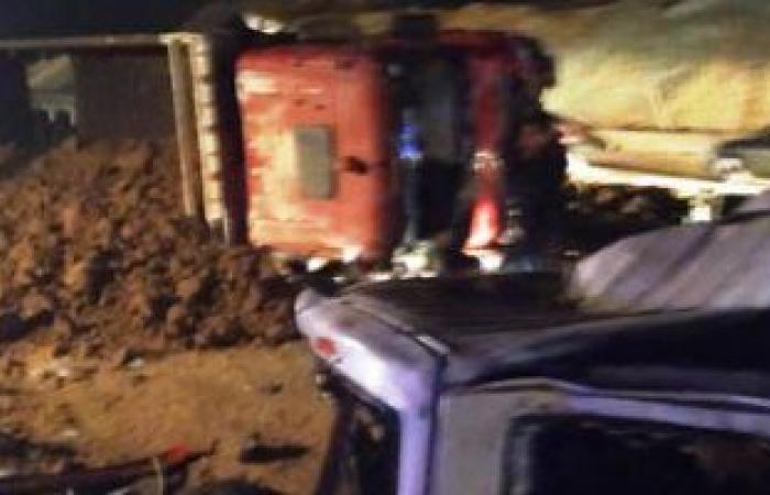 ارتفاع عدد الوفيات بحادث الطريق الصحراوى الشرقى فى بنى سويف إلى 20 شخصًا