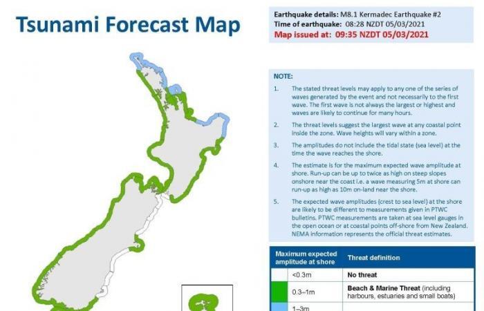 السفارة في نيوزيلندا تحذر السعوديين من زلزال تسونامي
