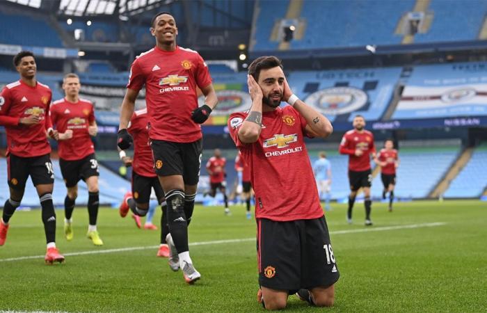 بهدفين نظيفين.. مانشستر يونايتد يوقف سلسلة انتصارات سيتي المتتالية بالدوري الإنجليزي