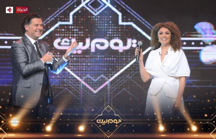"""وصلة عتاب بين يسرا وراغب علامة فى برنامج """"يوم ليك"""" على الحياة"""