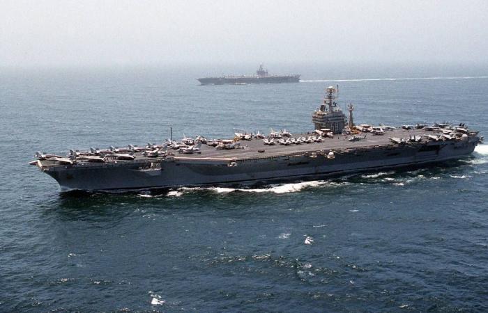 حاملة الطائرات الأمريكية «أيزنهاور» تعبر قناة السويس وتتجه إلى الخليج غدًا