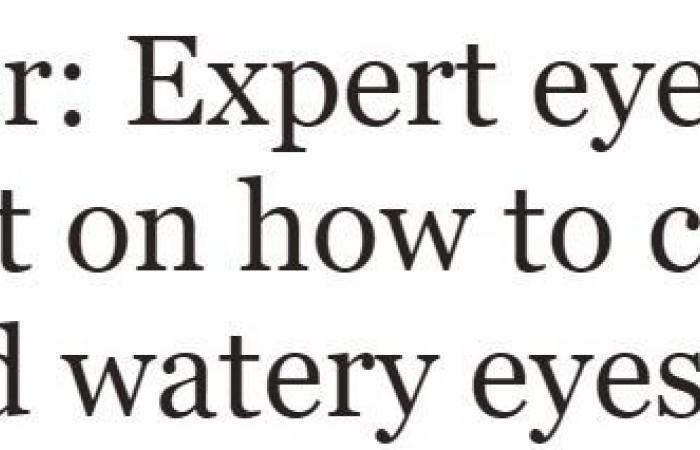 نصائح لمرضى حساسية العين فى فصل الربيع.. استخدم القطرات المرطبة