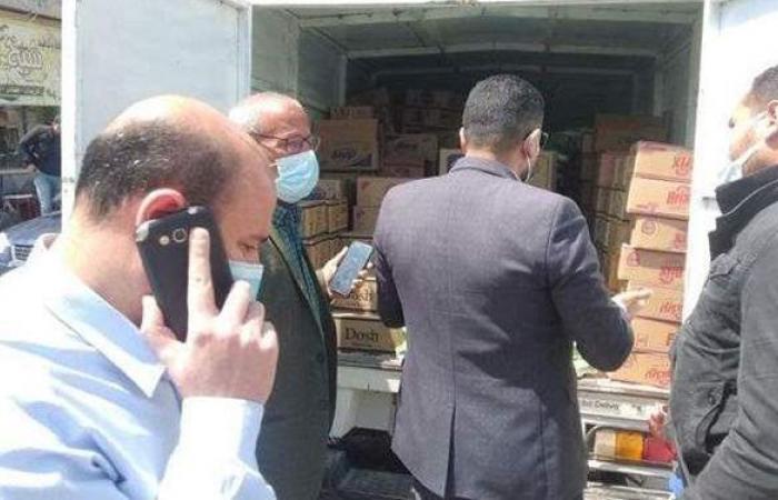 تحرير ٩٢ مخالفة لمحال تجارية خلال حملة تموينية بالمنيا