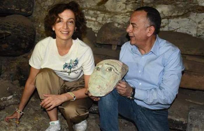 مدير اليونسكو تزور الأهرامات وتشاهد أعمال الكشف الأثري المرتقب بسقارة