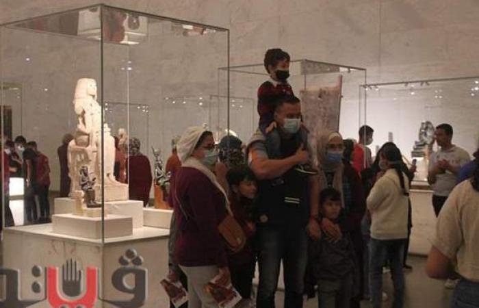 في ثاني أيام افتتاحه.. الأسر تتصدر المشهد داخل المتحف القومي للحضارة | صور